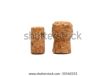 Wine fuses on a white background