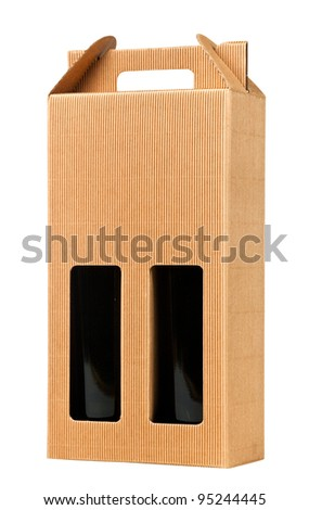 Wine gift box, isolated on white (with clipping path)