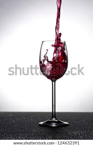 Wine glass in backlight
