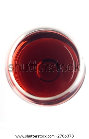 Wine glass shot from top