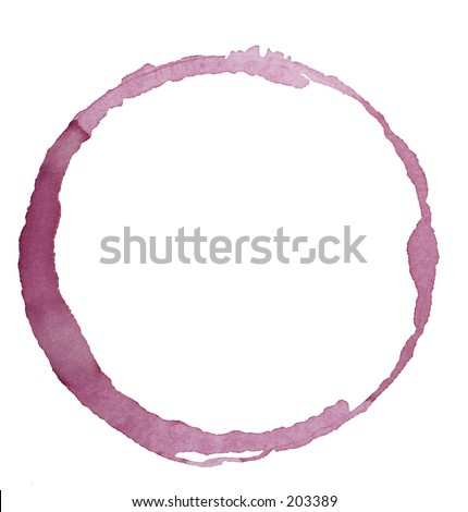 wine glass stain