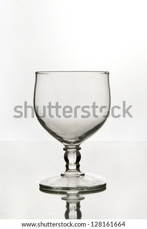 Wine Glass Wine Glasses Silhouette Bright Field White Background Classy
