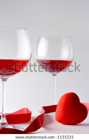 Wine glasses and a heart