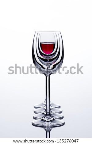 Wine glasses in backlight