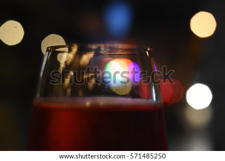 Wine glasses in front of bokeh background  #571485250