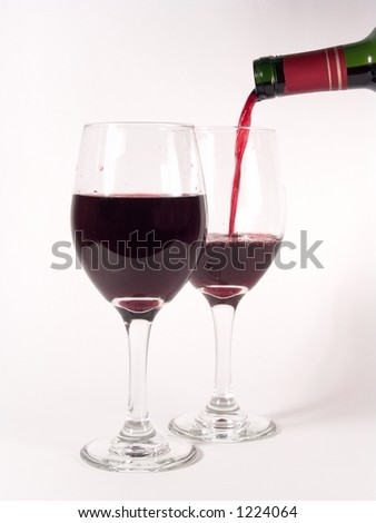 Wine Glasses Pouring