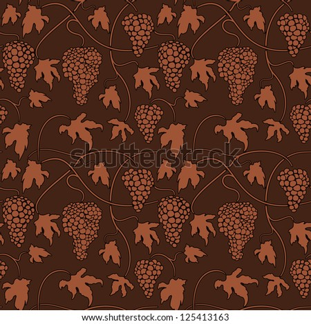 Wine grapes Seamless pattern background. Raster version
