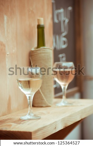 Wine in glasses