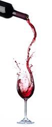 Wine List Design - Motion And Splashing In Wineglass
