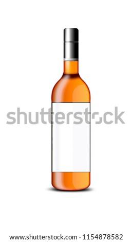 wine orange bottle #1154878582