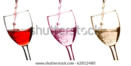wine pouring into wine glasses