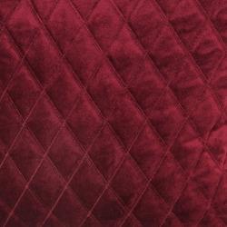 Wine red diamond quilted velvet fabric texture