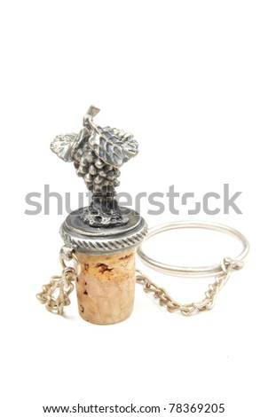 Wine stopper Isolated on white background