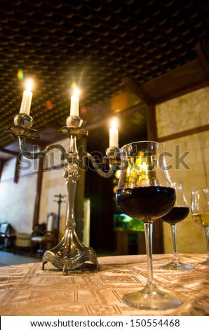 Wine Tasting dinner in the candle light
