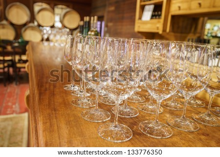 Wine tasting room in Napa