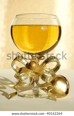 wine with decoration