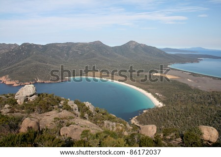 Wineglass Bay, Freycinet National Park, Tasmania, Australia #86172037
