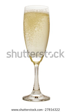 wineglass of champagne