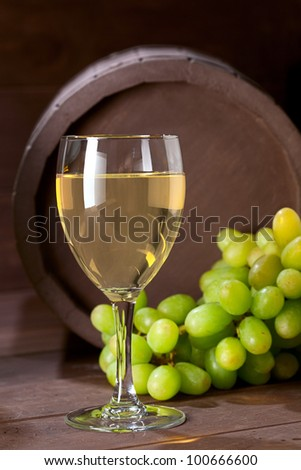wineglass of vine on  wooden background #100666600