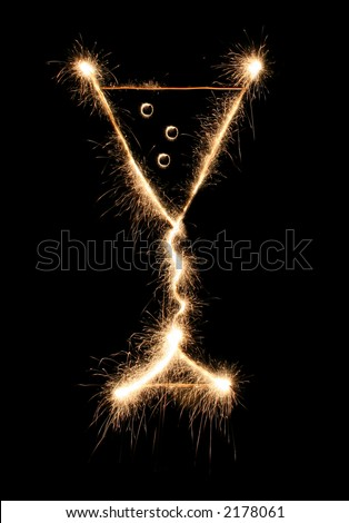 wineglass sparkler - stock photo