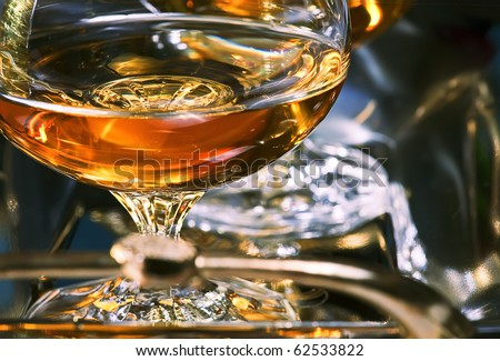 wineglass with brandy