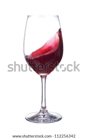 Wineglass with wine. Abstract drink composition