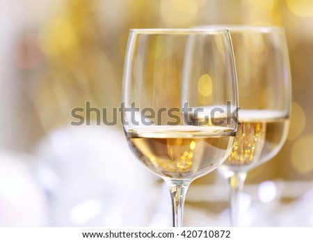 Wineglasses on blurred background #420710872