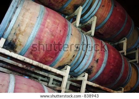 winery tour - stock photo