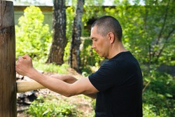 Wing Chun-martial art, martial arts, fighter, training, Wooden Dummy
