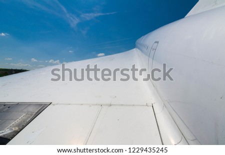 wing of Concorde, the only passenger supersonic airliner