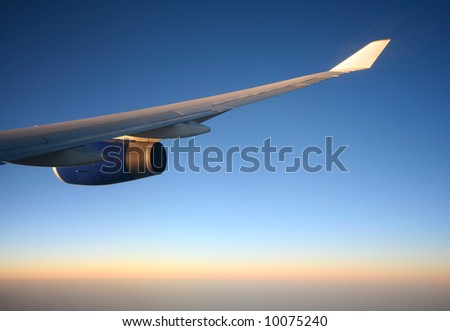 Plane Wing on The View Of Jet Plane Wing With Find Similar Images