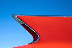 wing on a classic car