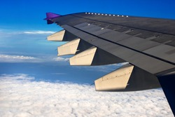 Wing with a beautiful sky