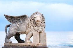 Winged lion statue, symbol of Venice