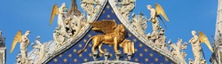 Winged lion, symbol of Venice, on San Marco Cathedral