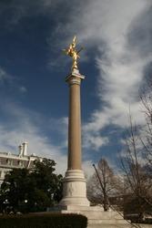 Winged Victory Column Statue Washington DC Gold