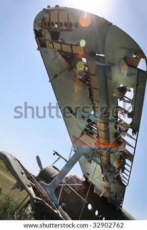 Wings of an old abandoned aircraft