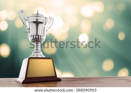 winner cup with abstract background