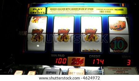 winner on a slot machine