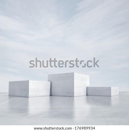 winner podium under blue sky #176989934