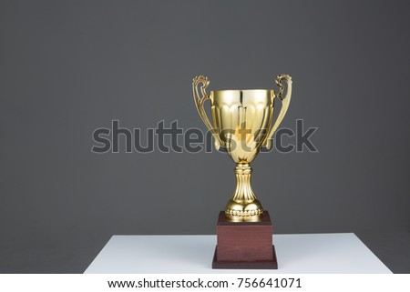 winner trophy, golden trophy #756641071
