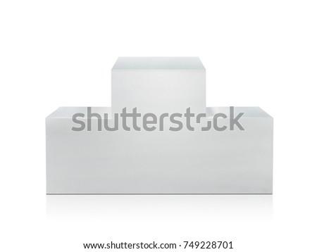 Winners podium on white background #749228701