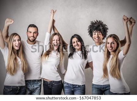 Winning Friendship - stock photo