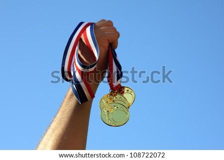 Winning gold medals