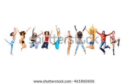 Winning Idea People Celebrating  #461860606