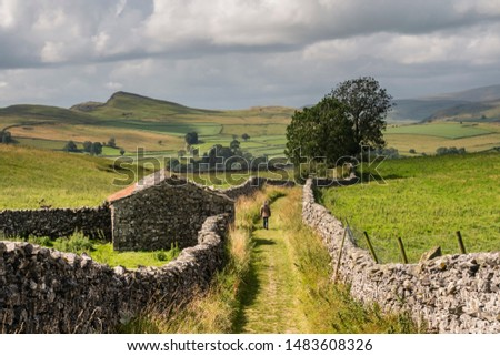 Winskill Stones Stainforth and Catrigg Force in Cravendale above Settle in the Yorkshire Dales Zdjęcia stock ©