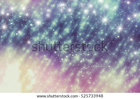 Winter Abstract Background. Bokeh or glitter lights. Christmas template #525733948