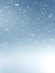 Winter abstract background with snow on a blurred background
