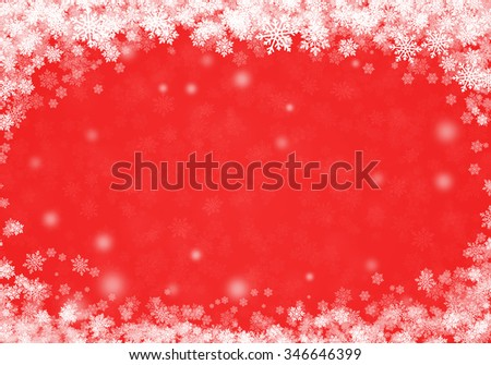 Winter Abstract Snowflake red Background #346646399
