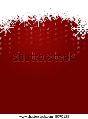 Winter and Christmas Background and Snowflakes